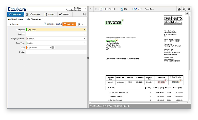 DocuWare Intelligent Indexing