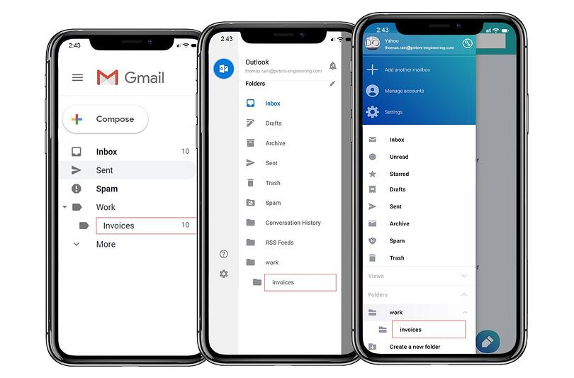 Connect to mail examples -- gmail, yahoo mail, hotmail