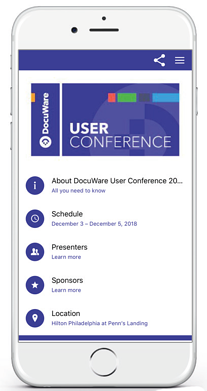 DocuWare User Conference App