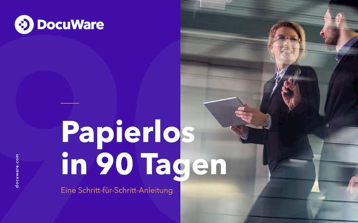 E-Book Cover - Papierlos in 90 Tagen