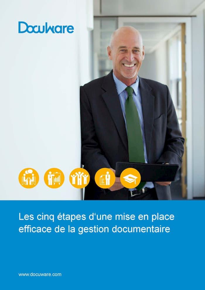 E-Book Cover - Les cinq étapes d'une mise en place efficace de la gestion documentaire