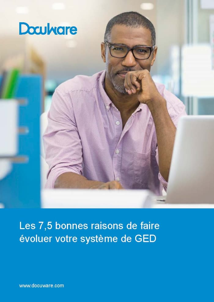 E-book Cover - FR - Les 7,5 bonnes raisons de faire évoluer votre système de GED