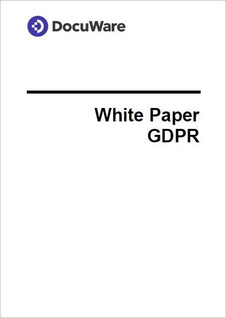 White Paper GDPR