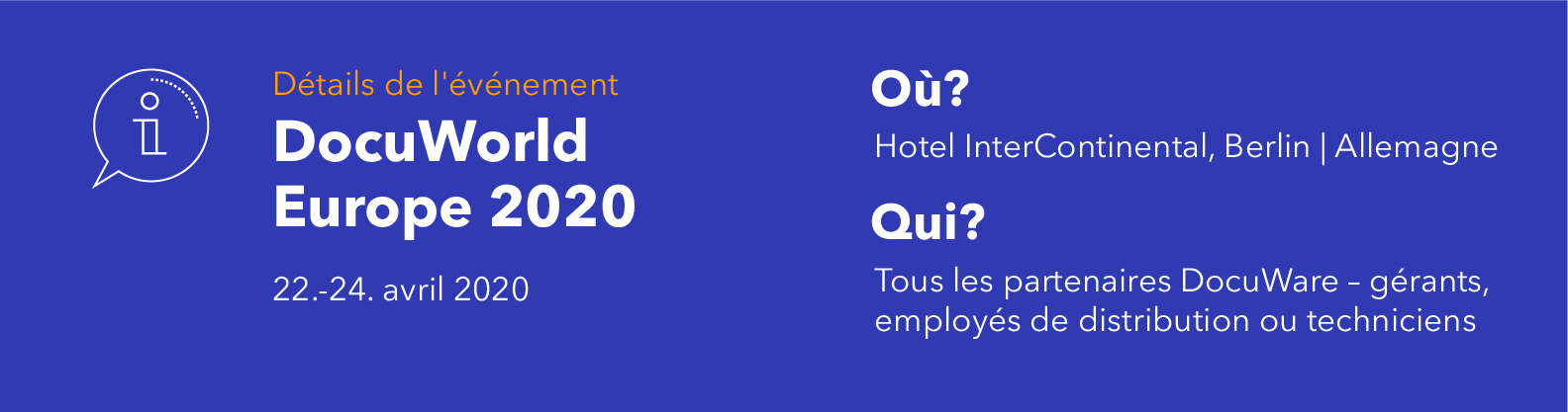 DocuWorld Europe 2020: Détails de l´événement