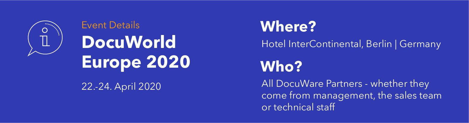 DocuWorld Europe 2020: Event Details