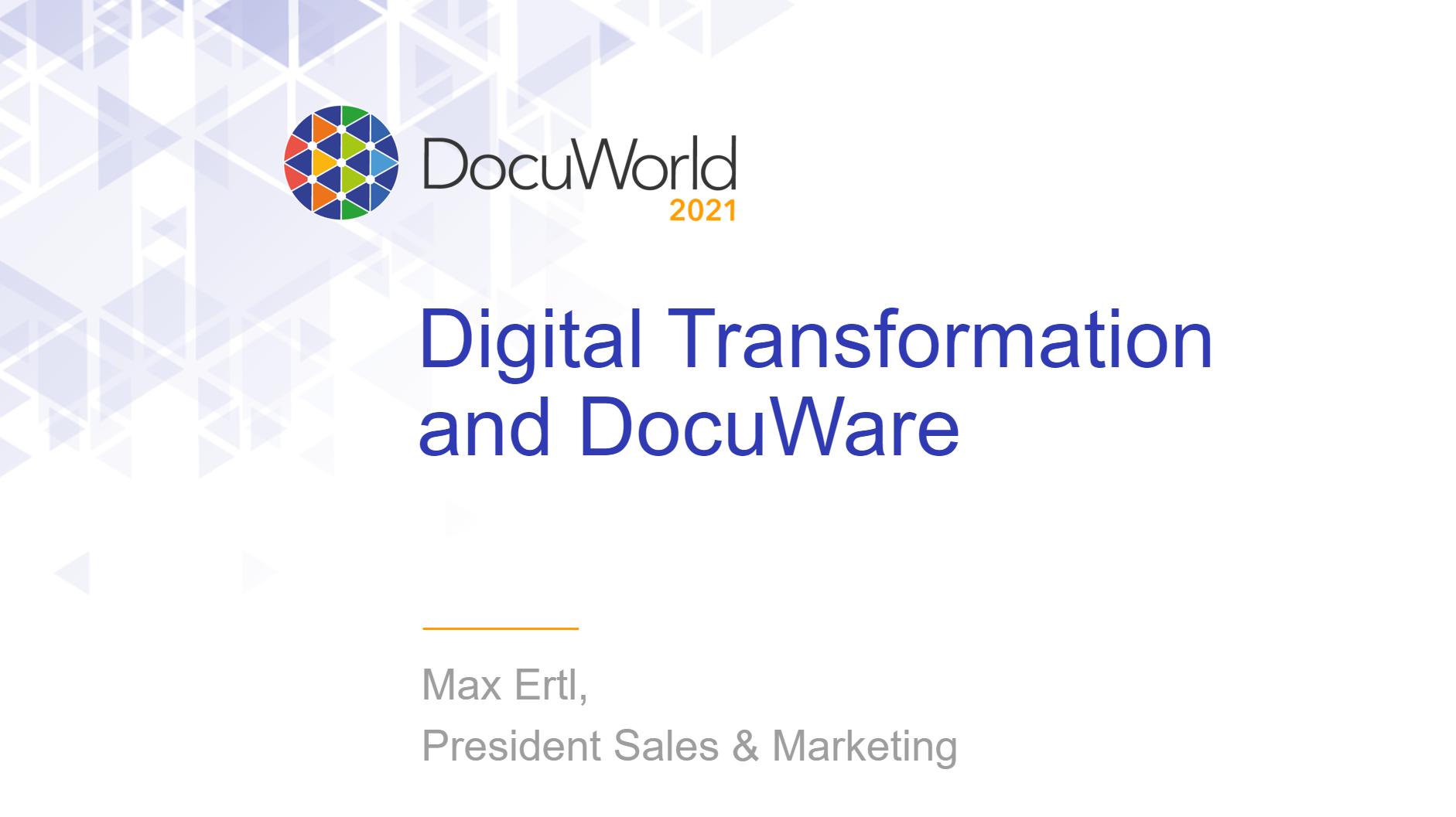 DocuWorld Partner Conference 2021: Digital Transformation