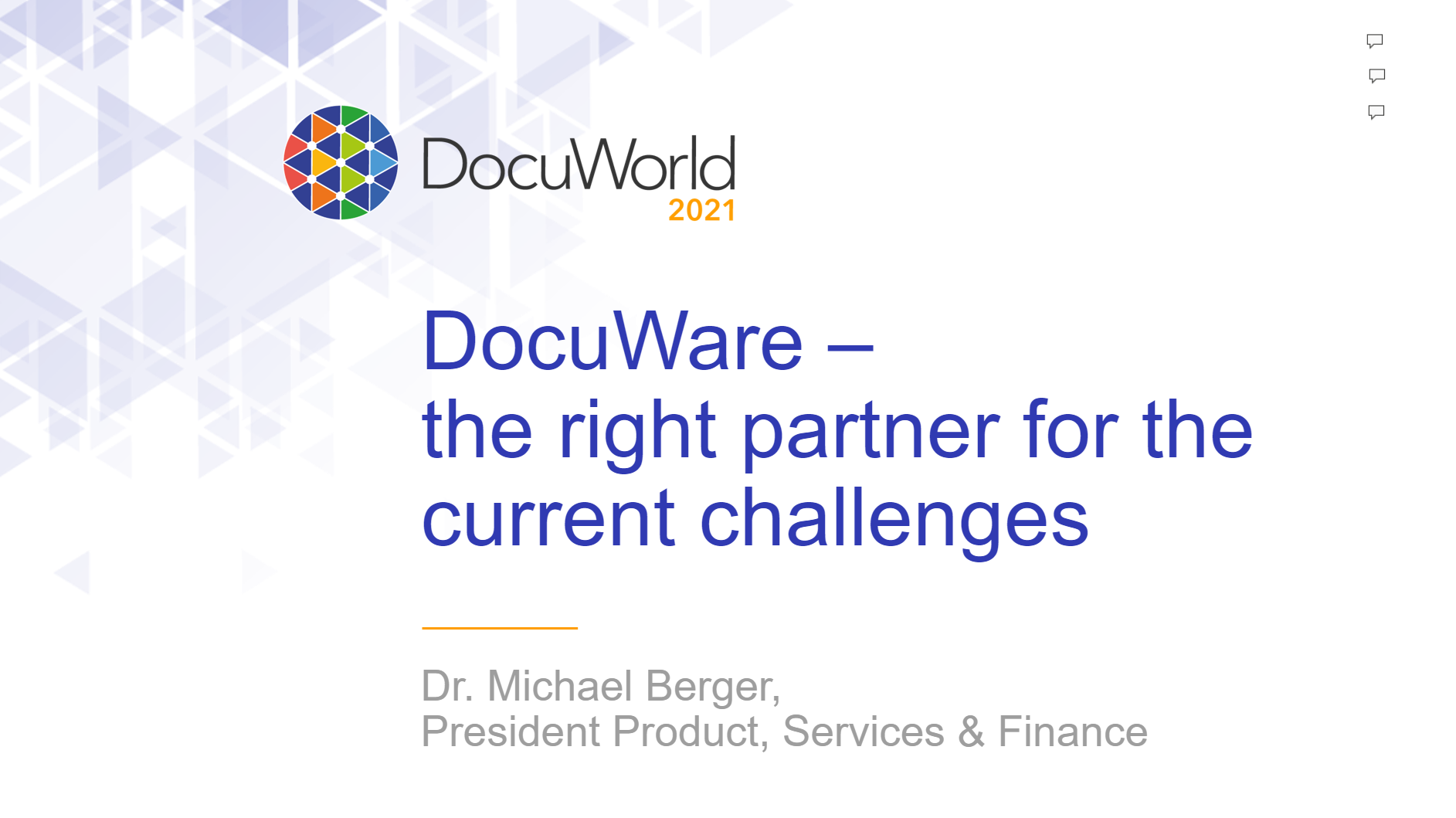 DocuWorld Partner Conference 2021: DocuWare The Right Partner