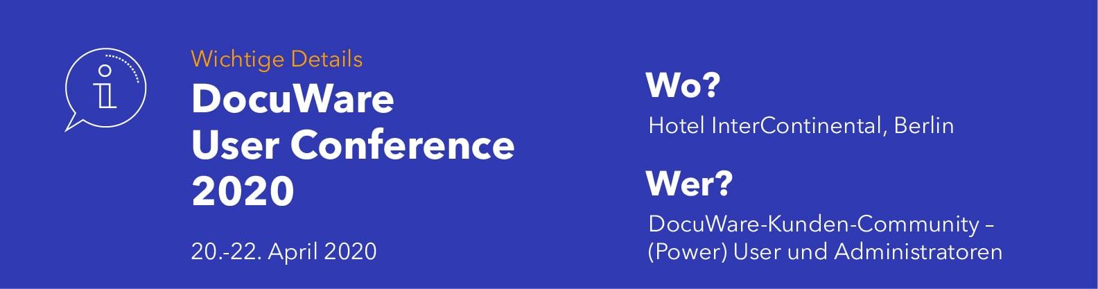 User Conference 2020: Event-Details