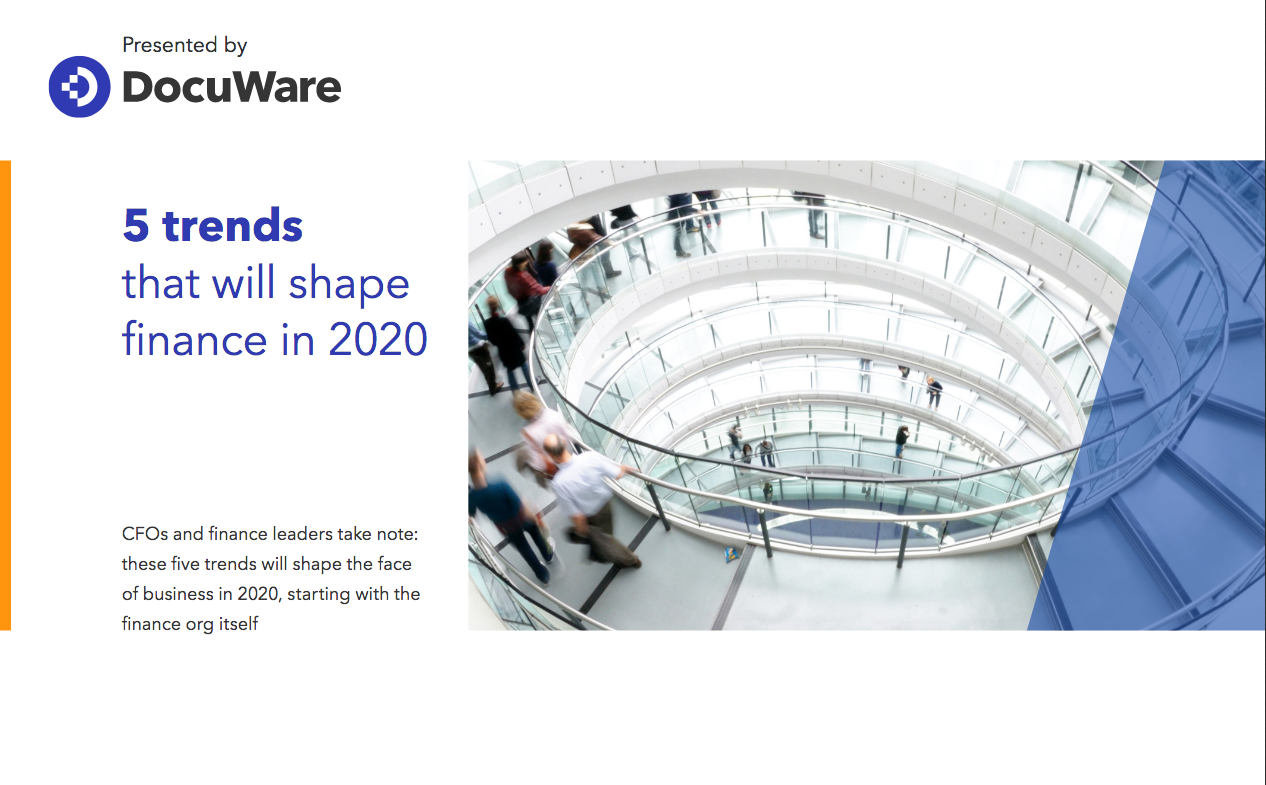 Ebook: 5 Trends Shaping Finance in 2020