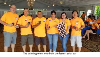 The winning team 4