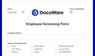 Employee Health MonitoringForm