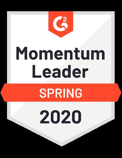 G2 momentum leader badge 2020