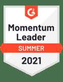 G2 momentum leader summer 2021 badge