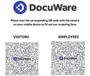 QR code for employee health monitoring