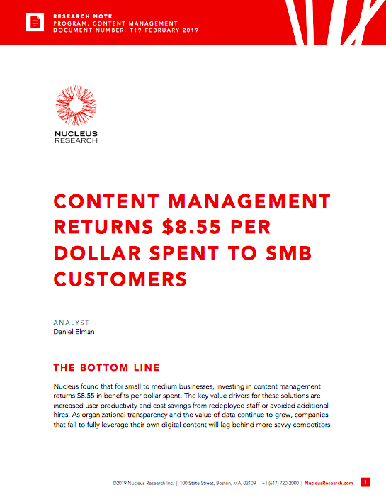Content management ROI for SMBs