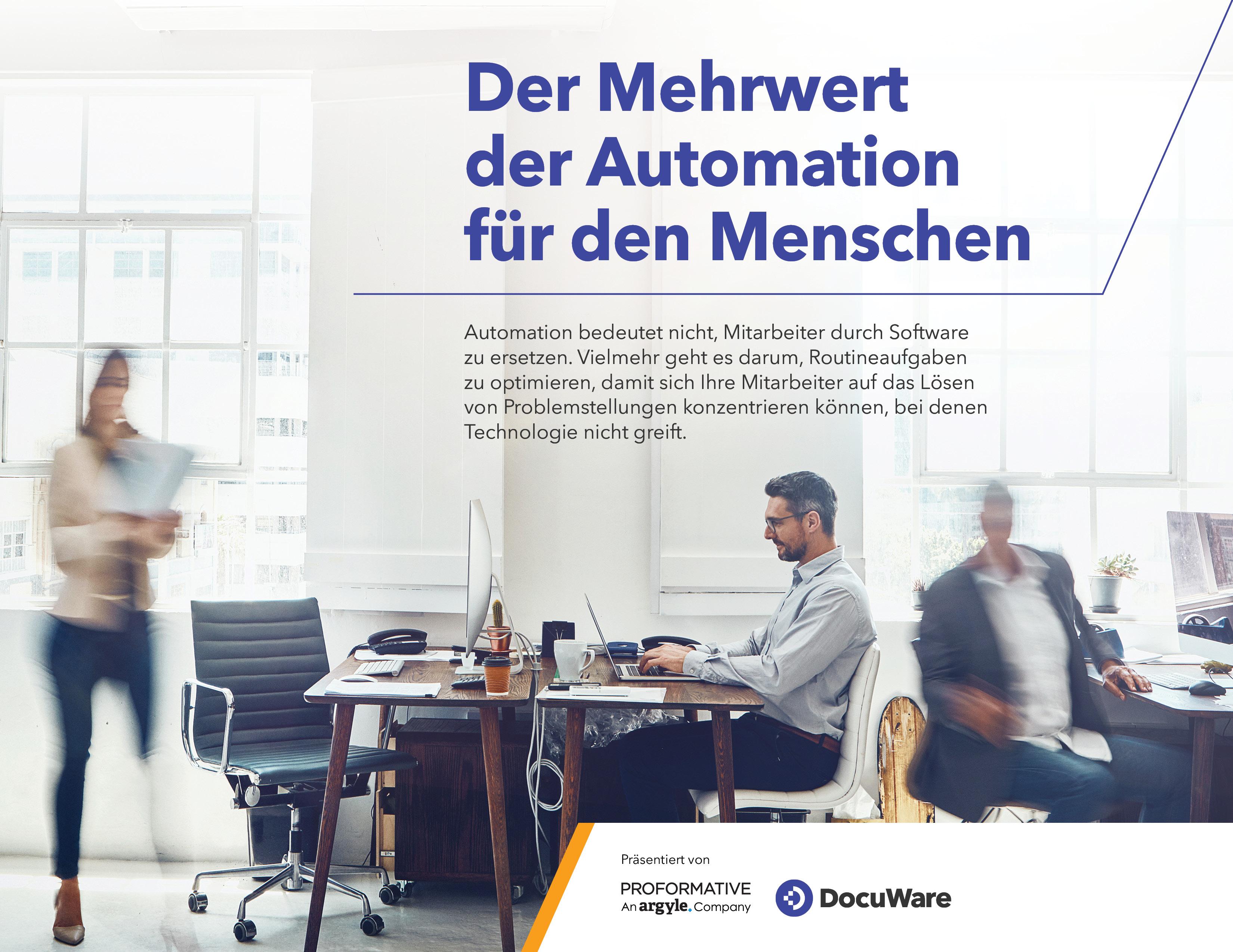 Der Mehrwert der Automation für den Menschen