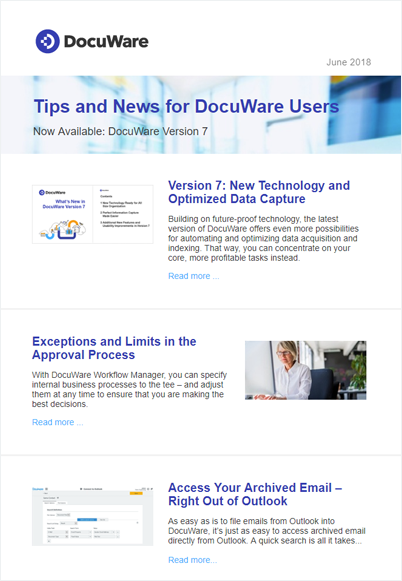 UserInfo Newsletter