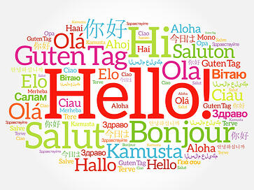 The word hello in every language graphic