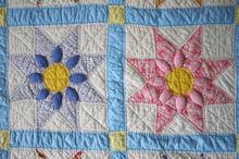 Multi-colored quilt squares