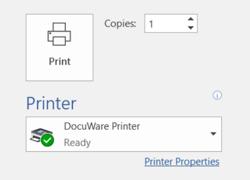 DocuWare Printer
