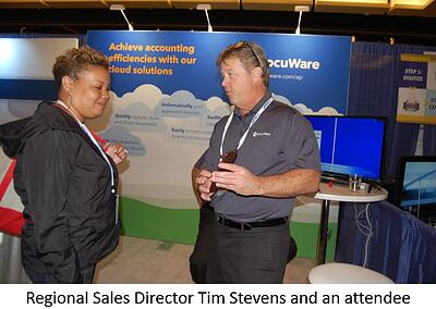 DocuWare's Tim Stevens and APP2P attendee