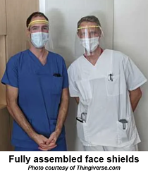 Fully-assembled face shields