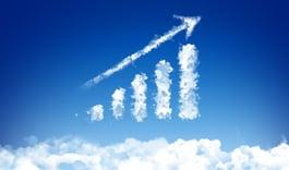 Bar graph cloud business