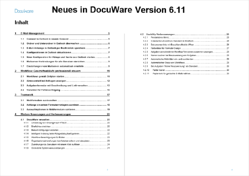 Neues in DocuWare Version 6.11