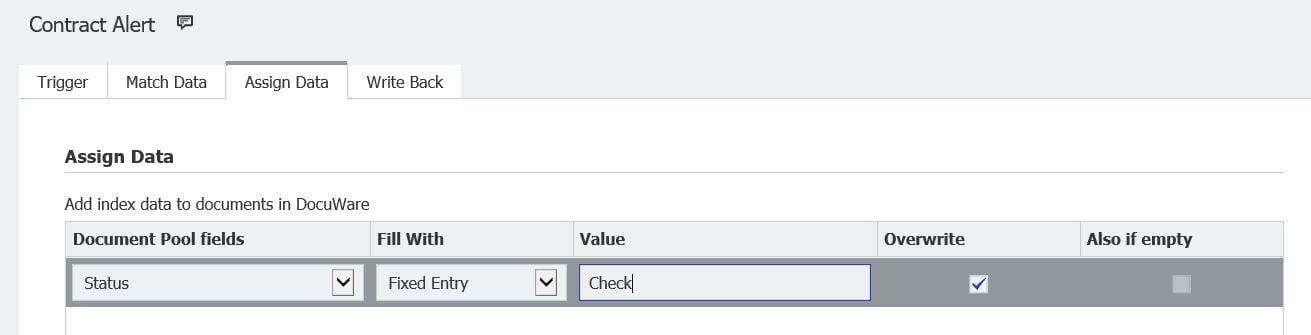 Configure Autoindex Data Assignment