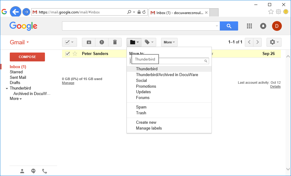 Emailmanagement Connect to Mail