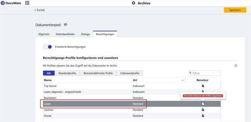 Deaktivieren Sie zunächst in den Archiv-Einstellungen das Alle-können-suchen-und-lesen-Profil.