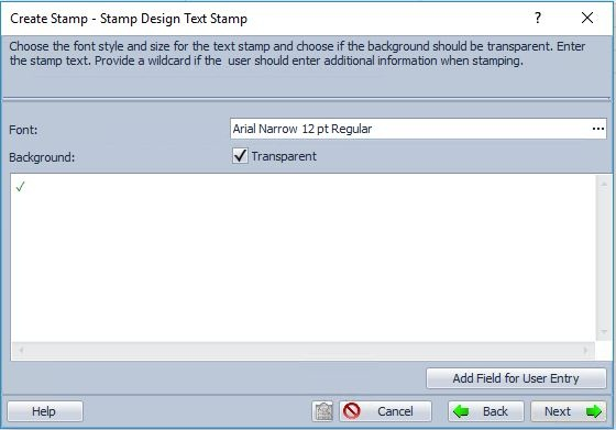 Stamp wizard DocuWare Administration 2
