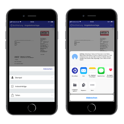 DocuWare Mobile App
