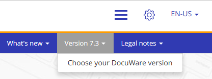 DocuWare Knowledge Center: select versions