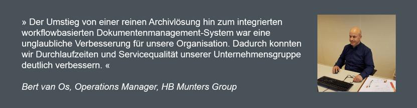 Bern van Os, HB Munters Group über die Nutzung von DocuWare