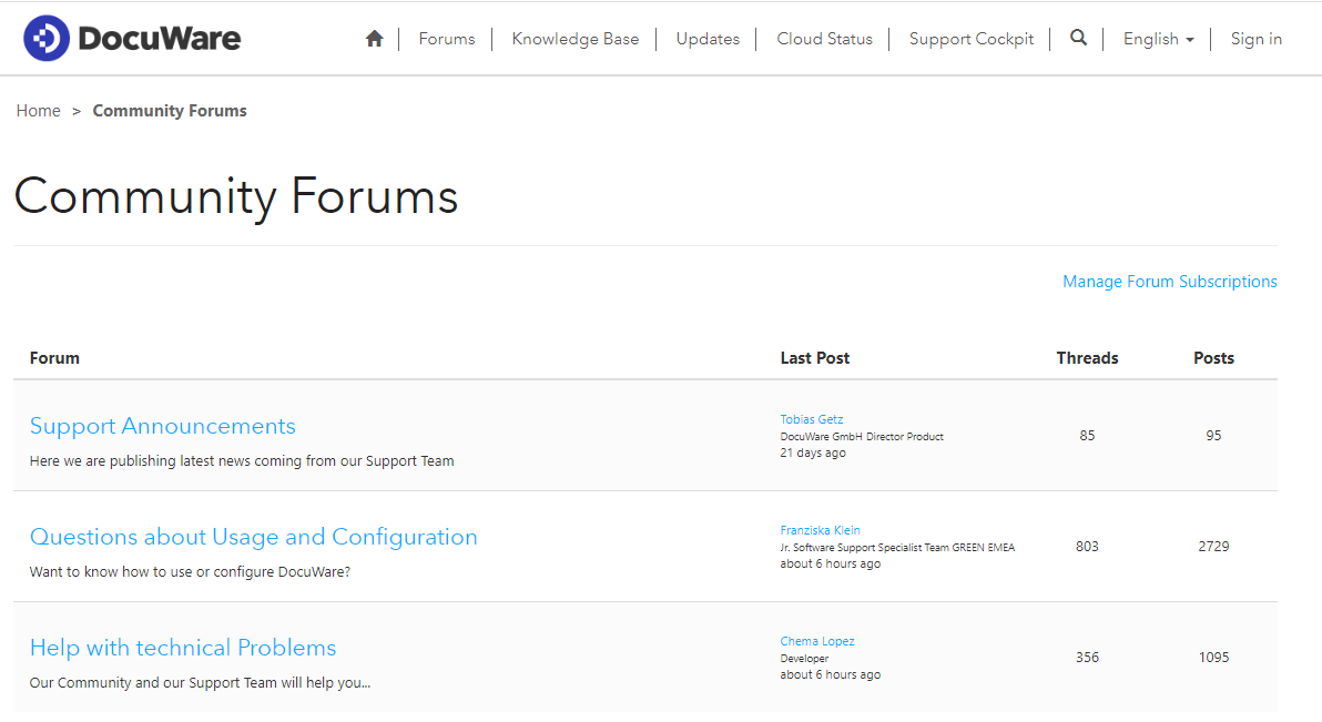 The Community Forums are the right place for users to discuss new features