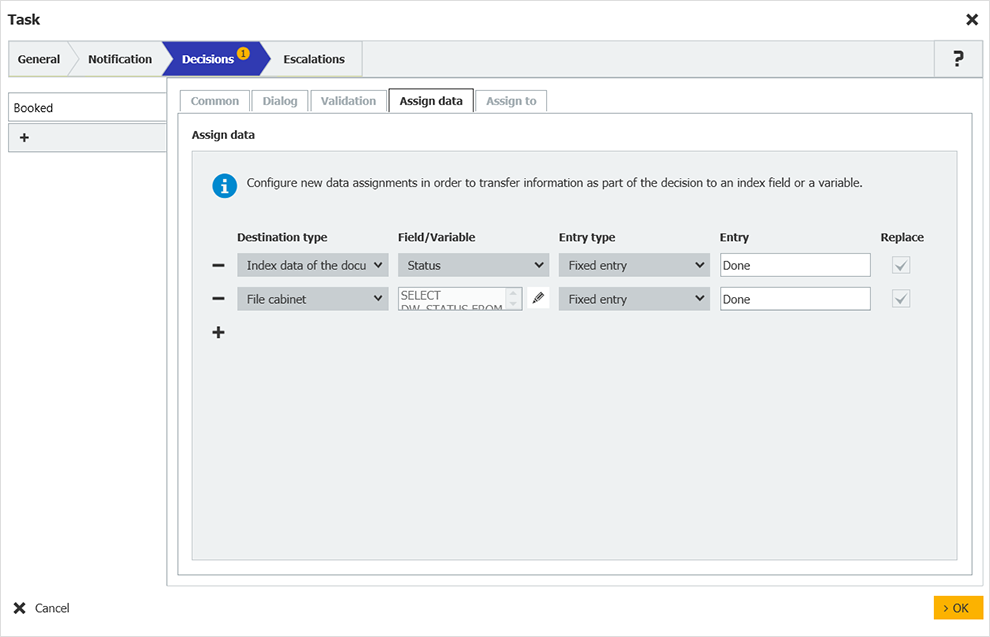 DocuWare Configuring a Workflow