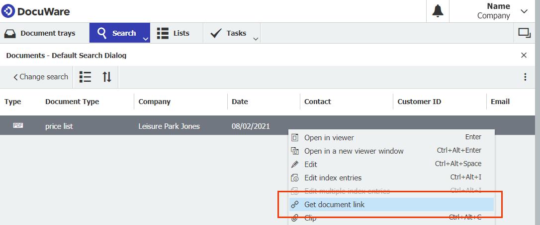 Get document Link