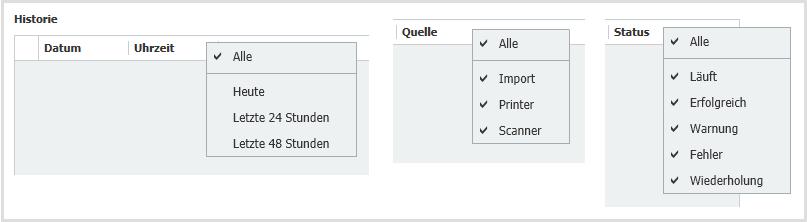 Import Status Filter