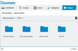 Ordnerstruktur im DocuWare Client