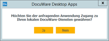 Abschluss der Installation der Desktop Apps