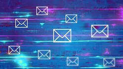 emails floating in space