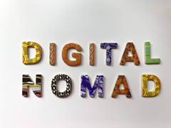 Mulit-colored words Digital Nomad