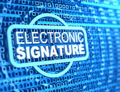 Electronic signatures defined