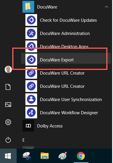 open DocuWare Export