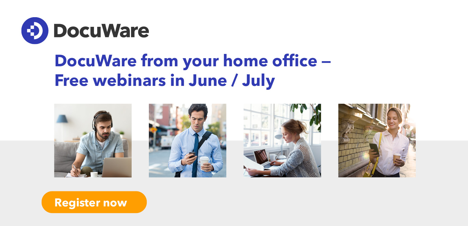 DocuWare from your home office - free webinars