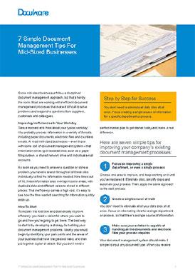 7 Simple Document Management Tips