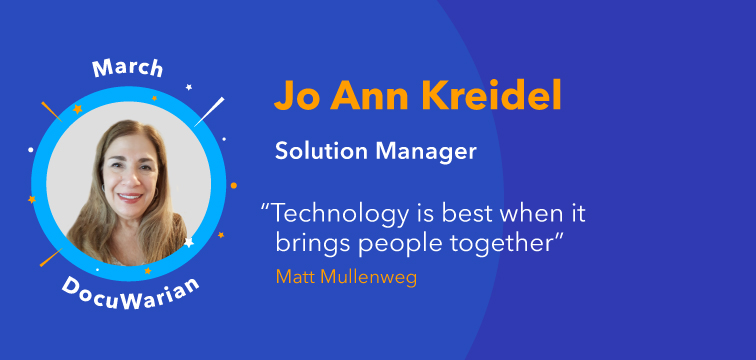 Get to Know Us: Meet Jo Ann Kreidel Solution Manager