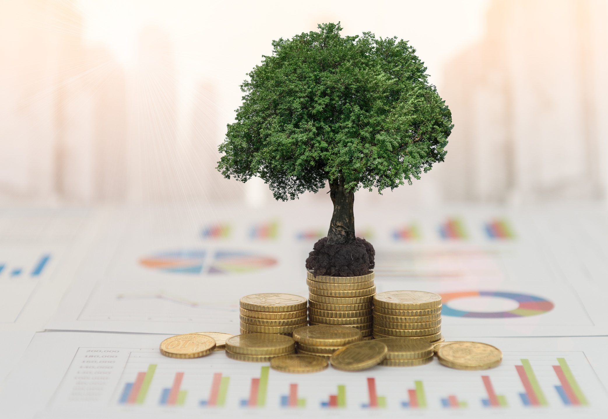 ROI-on-technology-with-coins-and-growth