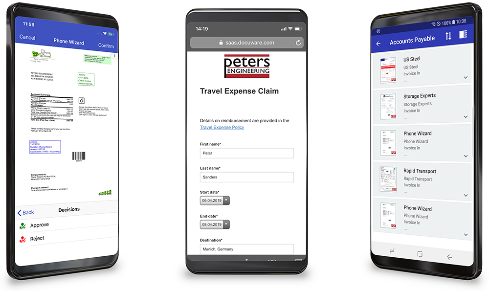 Connect colleagues through mobile (transparent)
